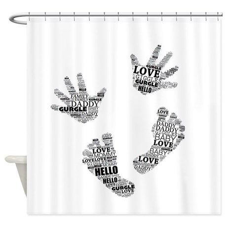 Baby Hands And Feet With Words 4 Shower Curtain By
