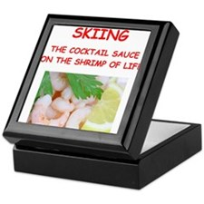skiing Keepsake Box