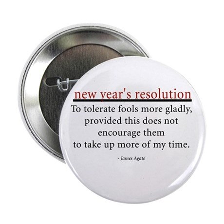"""New Year's Resolution 2.25"""" Button (100 pack)"""