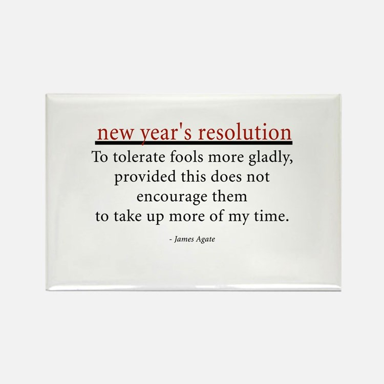 New Year's Resolution Rectangle Magnet