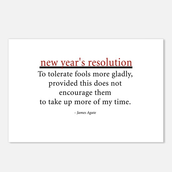 New Year's Resolution Postcards (Package of 8)