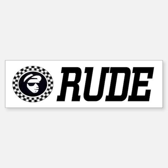 Rude Emblem Bumper Bumper Bumper Sticker