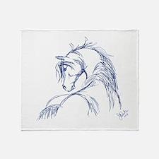 Artsy Horse Head Throw Blanket