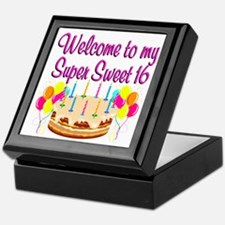 SUPER SWEET 16 Keepsake Box