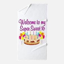 SUPER SWEET 16 Beach Towel
