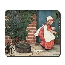 Vintage Miss Muffet and Spider Mousepad