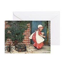 Vintage Miss Muffet and Spider Greeting Card