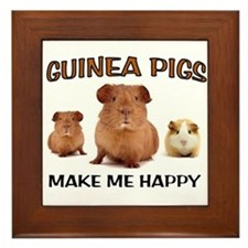 HAPPY PIGS Framed Tile