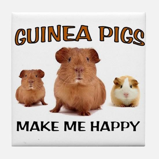 HAPPY PIGS Tile Coaster