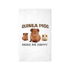 HAPPY PIGS 3'x5' Area Rug