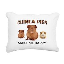 HAPPY PIGS Rectangular Canvas Pillow