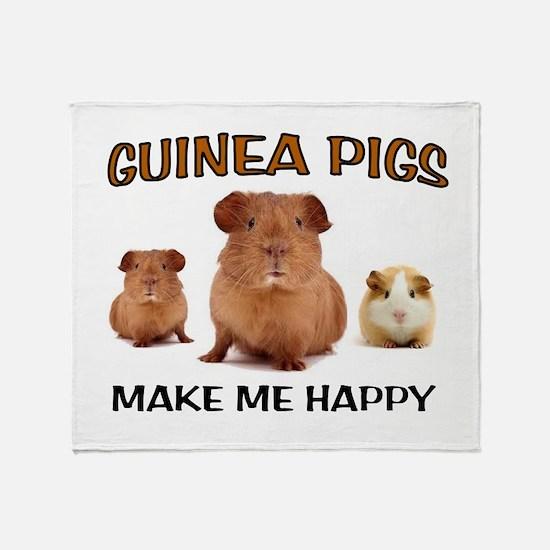 HAPPY PIGS Throw Blanket