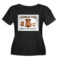 HAPPY PIGS Plus Size T-Shirt