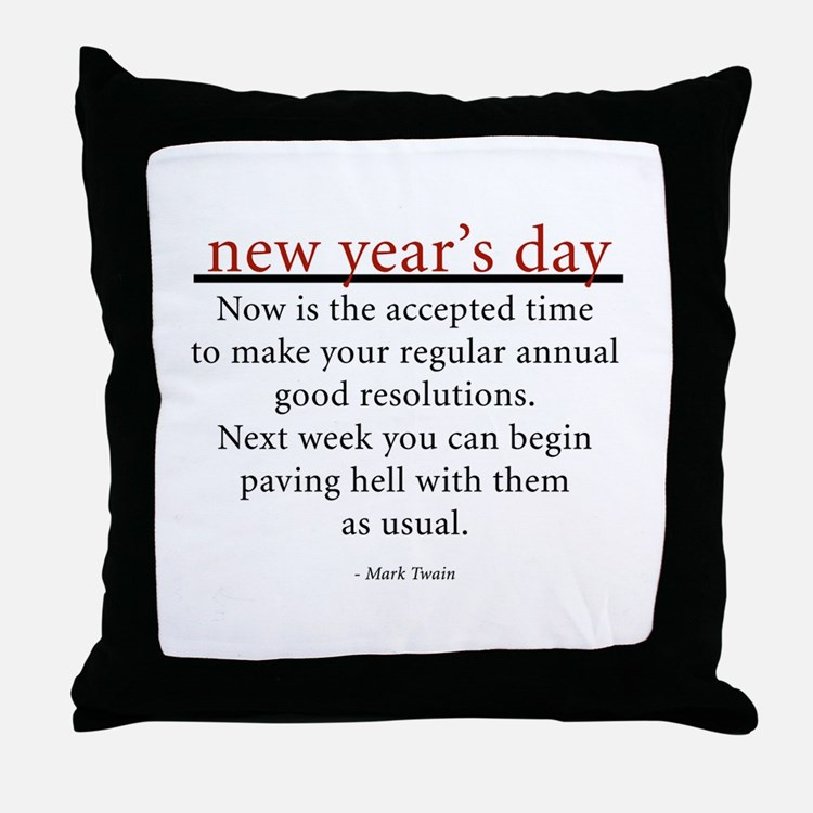 New Year's Day Throw Pillow