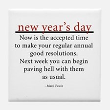 New Year's Day Tile Coaster