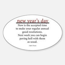 New Year's Day Oval Decal