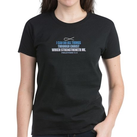 Phillipians 4:13 Women's Dark T-Shirt