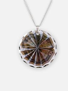 Money Origami Rosette Necklace