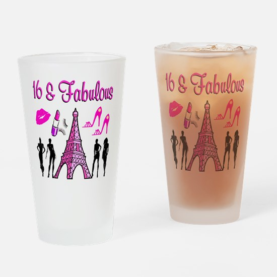 GLAMOROUS 16TH Drinking Glass