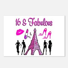 GLAMOROUS 16TH Postcards (Package of 8)