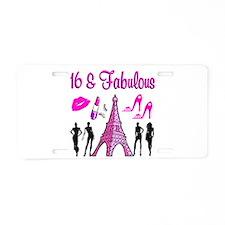 GLAMOROUS 16TH Aluminum License Plate