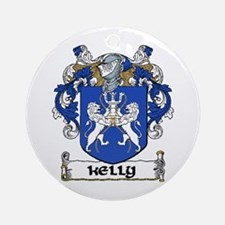 Kelly Coat of Arms Ornament (Round)
