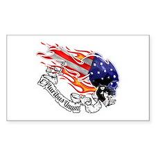 American Skull Decal