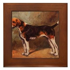 English Foxhound Framed Tile