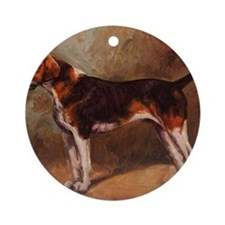 English Foxhound Round Ornament