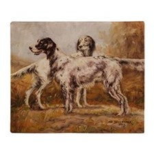 English Setters Throw Blanket