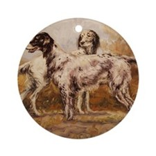English Setters Round Ornament