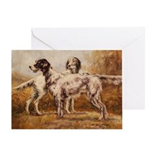 English Setters Greeting Card