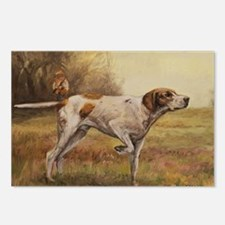 English Pointer with Hunt Postcards (Package of 8)