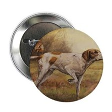 """English Pointer with Hunter 2.25"""" Button"""
