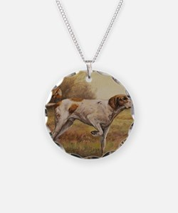 English Pointer with Hunter Necklace