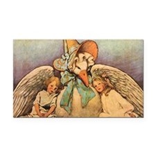 Vintage Mother Goose Rectangle Car Magnet