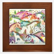 Wild Horse Herd Framed Tile