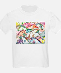 Wild Horse Herd Kids T-Shirt