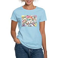Wild Horse Herd Women's Pink T-Shirt