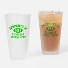 Property Of Business Department Drinking Glass