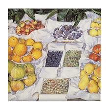 Caillebotte Fruit Stand Tile Coaster