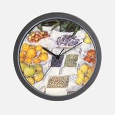 Caillebotte Fruit Stand Wall Clock
