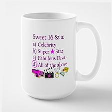 SWEET 16 DIVA Large Mug