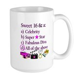 16th birthday for girl Large Mugs (15 oz)