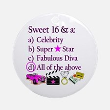 SWEET 16 DIVA Ornament (Round)