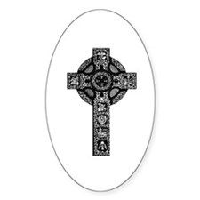 Celtic Cross 21 Oval Decal