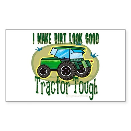 Tractor Tough Rectangle Sticker