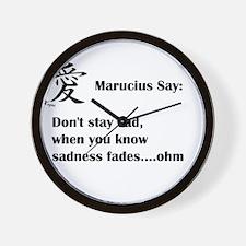 Dont stay sad, it fades Wall Clock