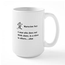A man must think alone Mugs