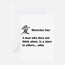A man must think alone Greeting Cards